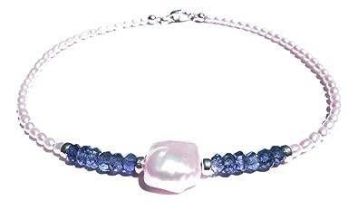 Damali Sterling Silver Freshwater Pearl Anklet - June Birthstone BMvN2pM