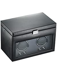 Wolf Designs 270402 Heritage Module 2.1 Double Watch Winder with Cover and Storage