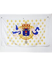AZ FLAG Kingdom France Sacred Heart Flag 3' x 5 a Pole - French Catholic Royal - Jesus Flags 90 x 150 cm - Banner 3x5 ft Hole