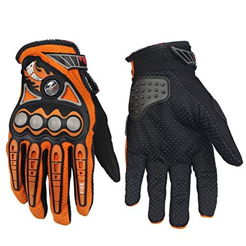 Sport Motorcycle Racing Gloves Bike Off Road Motorbike Skiing Climbing Gloves (Orange, XL)