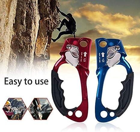 Cloverclover Asidero de Mano Ascender Montañismo Dispositivo de Escalada al Aire Libre Escalador Vertical, Azul