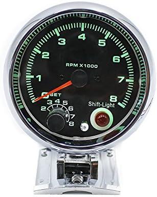 "3.75/"" Car Meter Tachometer Tach Gauge 7 Color LED with Shift Light 0-8000 RPM US"