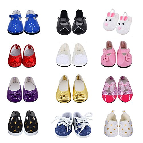 Ebuddy 3pc/Sets Ramdon Style Doll Shoes Accessory For 18 inch American Girl - Usps Time Delivery