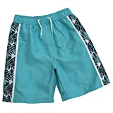 Cargo Bay Boys Bermuda Tropical Print Swim Shorts Perfect For Summer Holidays Turquoise 11-12 Years