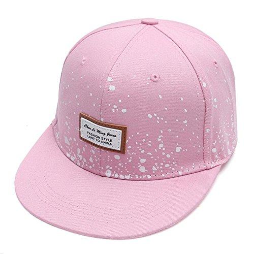 Donna Pierce baseball cap women fashion street flat along hip hop hat men and women skateboarding baseball cap Pink ()