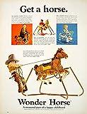 1966 Ad Vintage Wonder Horse Toy Rocking Shoo-Fly