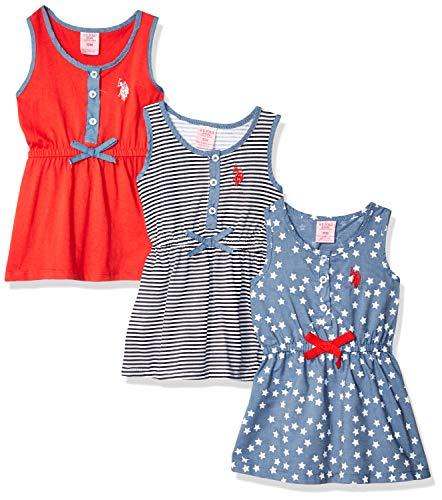 U.S. Polo Assn. Baby Girls 3 Pack Fashion Dress Dress