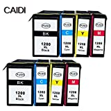 Ouguan Ink Compatible Canon PGI-1200XL PGI-1200 PGI1200 XL Pigment Ink Cartridge Compatible with Canon Maxify MB2320 MB2020 MB2350 MB2050 Inkjet Printer (2BK 2M 2Y 2C 8-Pack)