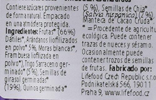 Lifefood Barritas Energéticas Arándano y Quínoa - 5 Paquetes de 47 gr - Total: 235 gr: Amazon.es: Alimentación y bebidas