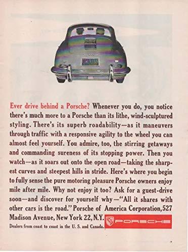"Magazine Print Ad: 1961 Porsche 356,""Ever Drive Behind a Porsche?.Why Not Enjoy it Too?"""