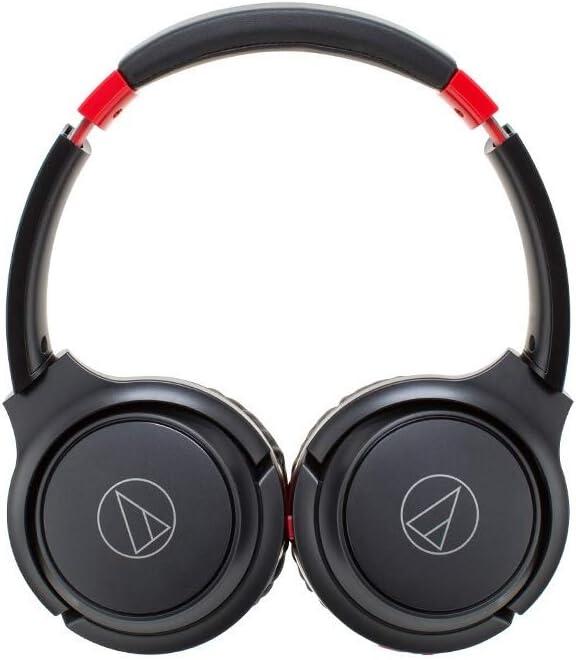 Auriculares AUDIO-TECHNICA ATH-S200BT Color Negro y Rojo, Bluetooth, Plegables