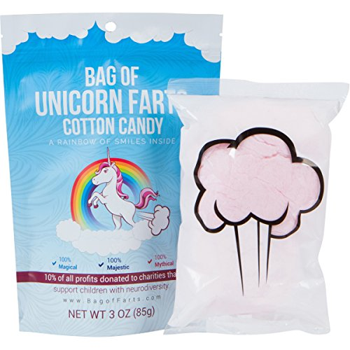Candy Funny for All Ages Unique Birthday Gag Gift for Friends, Mom, Dad, Birthday Girl, Boy Grandson Granddaughter Present Mother's Day (Unicorn Farts Cotton Candy) (Cotton Candy Favors)