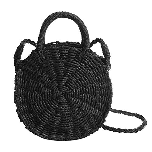Summer Handbag Retro Rattan Dunnomart Totes Straw Handbag B Bag Women Female Round Messenger Shoulder Beach Boho Bags Fashion Designer EtztwqH
