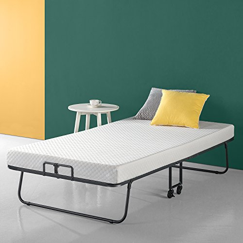 Zinus Roll Away Smart Guest Bed Frame with 4 Inch Comfort Foam Mattress, Twin by Zinus
