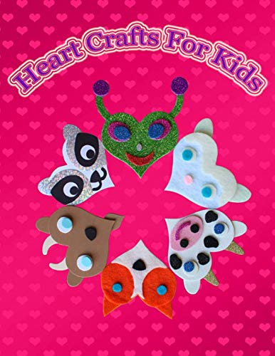 Heart Crafts for Kids: Cute heart patterns for children with lots of cute animals, birds, fantasy creatures, insects, pets and sea animals