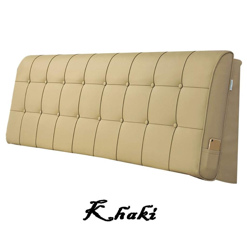 YJLGRYF Headboard Cushion Household Bed Back Cushion, Bedding Sofa Waist pad Double Detachable Lumbar pad for Office Bed sof (Color : B, Size : 200x10x60CM)