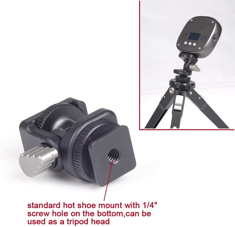 Camera Hot Shoe Mount Adapter Stand Monitor Mount Holder for Led Video Fill Light//Microphone//Recorder//DSLR Cameras//Camcorders//Smartphone//Gopro//Tripod
