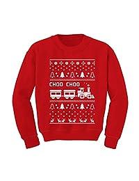 Choo Choo Train Children's Ugly Christmas Sweater Cute Kids Sweatshirt