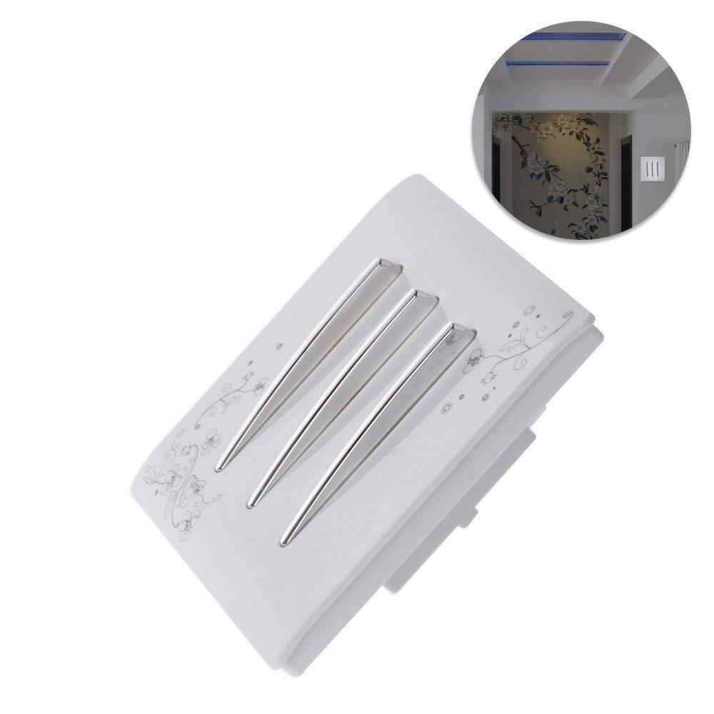 LOCHI Luxury Wall Light Switch 3 Gang 1 Way Ivory White Brief Art Weave AC 110-250V Panel Push Button L15 NEW BRAND