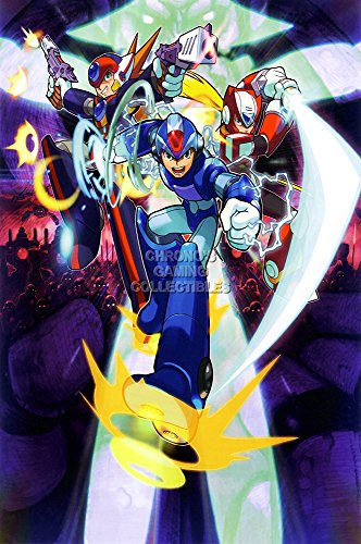 CGC Huge Poster Glossy Finish - Mega Man X8 Art Ps2 Megaman Rockman