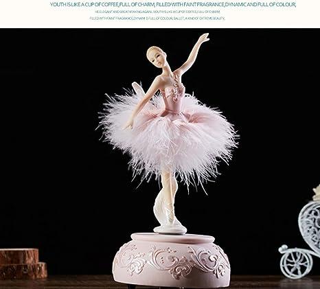 Tmendy Caja de Música Grabado Pintado a Mano Ballet Spinning ...