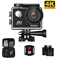 Action Camera Waterproof WiFi 4K Video Sports Cam Davola Remote Control 16MP Underwater Camera with 170 Degree Wide-angle Lens and Mounting Accessories Kit