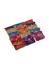 Baitaihem 15 Pack Jewelry Silk Purse Pouch Gift Bags Chinese Silk Brocade Embroidered Bag,Multiple Colors