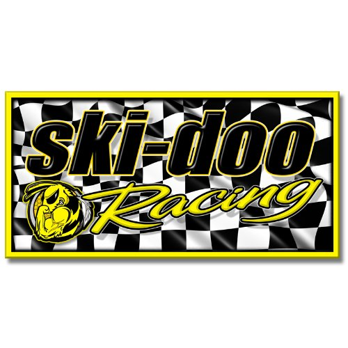 (Edgewraps 2' x 4' Ski Doo Racing/Checker banner )