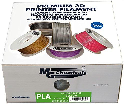 MG Chemicals Fluorescent Red // Hot Pink 1 kg PLA17FLRE1 1.75 mm Glows under Black light PLA 3D Printer Filament