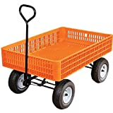 A.M. Leonard Orange Utility Wagon, 30 x 46 x 7.5 Inch Tray