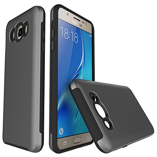 TPU/PC Shockproof Cover Case for Samsung Galaxy J510 J5 2016 (Grey) - 1