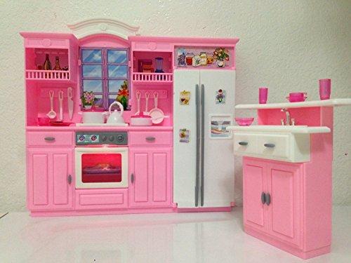 Barbie house tour totally real dollhouse playset for Life size kitchen set