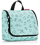 reisenthel Kids Toiletbag, Hanging Travel Toiletry Organizer, Cats and Dogs Mint
