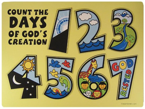 Swanson Christian Supply 11189 Puzzle Count The Days Of Gods Creation Wooden]()