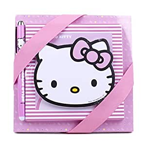 37e6342b6 Amazon.com: Hallmark Hello Kitty Notepad Set (3 Notepads, 1 Pen ...