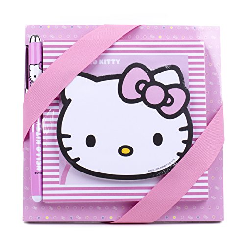 Hallmark Hello Kitty Notepad Set (3 Notepads, 1 Pen) - 5WMW5528