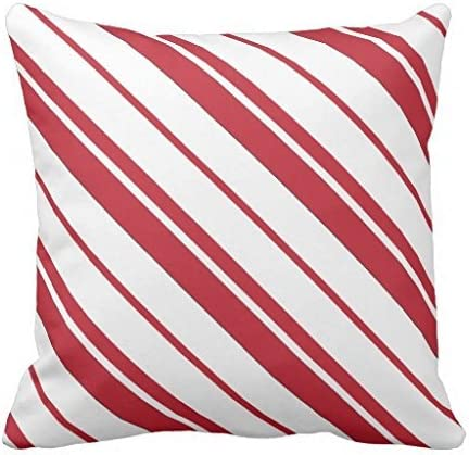 Red and White Striped pillowcase Pillow