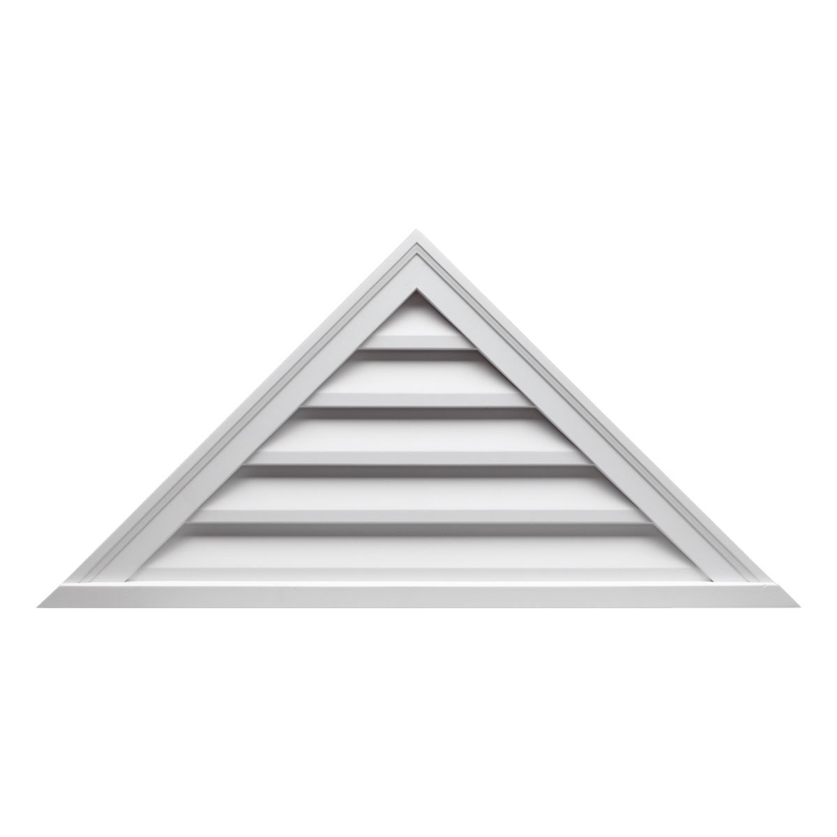 Fypon FTRLV48X18 Functional 48''W x 18''H Triangle Louver with 9/12 Pitch