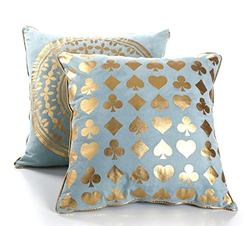 Decorative Cushion Cover Pillow Cases standard size, Set of 2, 18 x18, Gifts for Women