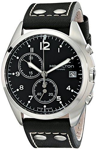 Hamilton Men's H76512733 Khaki Aviation Analog Display Swiss Quartz Black Watch