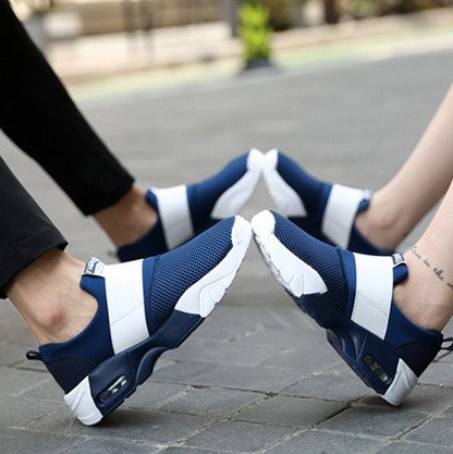 de marca deporte 44 mujer mujeres de mujer 35 aire zapatillas de zapatillas zapatillas Blue deportivas Sneakers Tamaño amantes cojín Wedge Bvf8qwx6