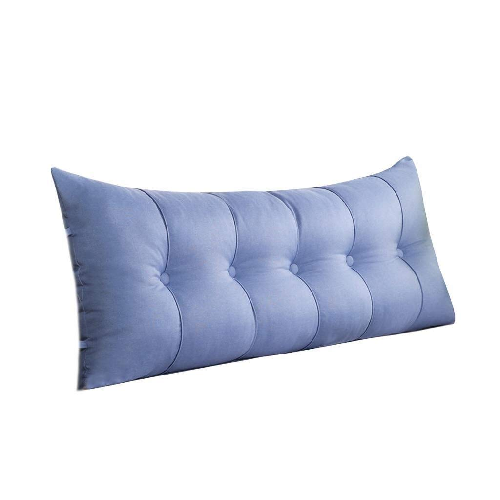 Triangular Wedge Bedside Back Cushion,Large Sofa Cushions Bedside Sofa Big Back Cotton Comfortable Wedge Cushion Washable (Color : Blue, Size : 80cm) by Bbhhyy