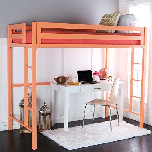 We Furniture Premium Twin Metal Loft Bed Coral Buy