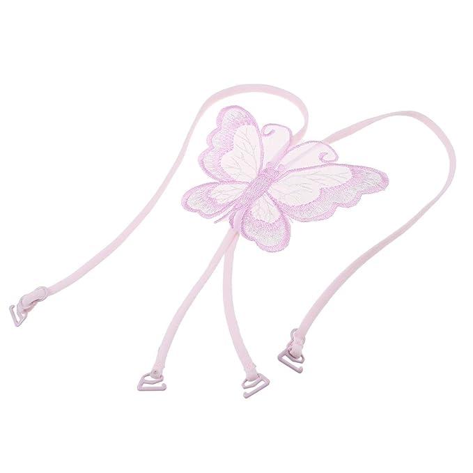 Slim banda forma de mariposa cruz espalda sujetador correas Rosa para Mujer Rosa rosa: Amazon.es: Ropa y accesorios