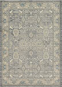 Dynamic Rugs AN69571596464 Ancient Garden Collection Area Rug 53 x 77 Ivory