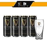 Pack 4 Cervezas Guinness + 1 Vaso