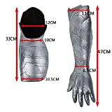 BFJ Captain America 3 Civil War Winter Soldier Bucky Arm Sleeve Cosplay Costume