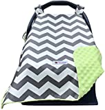 Carseat Canopy Cover, Doubles as a Convenient Breastfeeding or Shopping Cart Cover, Car Seat Canopy Accessories are a…
