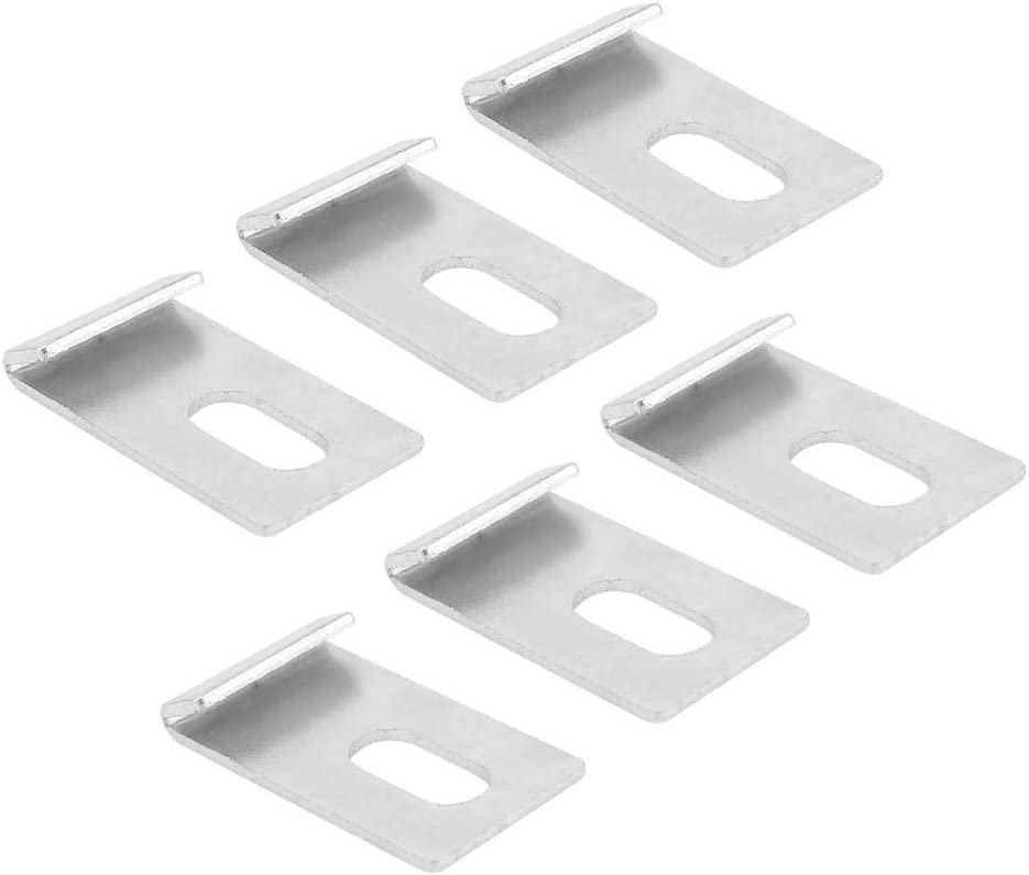 10pcs Greenhouse Base Clips Metal Sliver Fixings Attaches Tool Kit