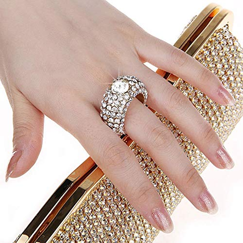 vestito intarsi Crystal Banquet con Nosterappou a San D appuntamenti per oro Incredibile Valentino mano Bag adatto mano notte banchetti Ix8qICw